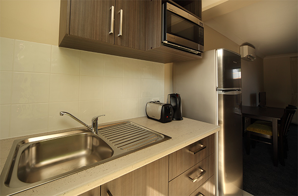 Kitchenette facilities in all rooms